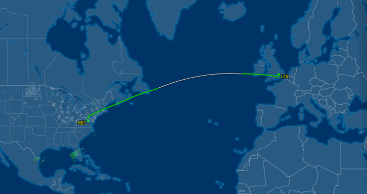 Update: N996GA (S56) has confirmed a possible earlier departure of Sunday 21:00 GMT. It was previously scheduled to leave Monday evening.