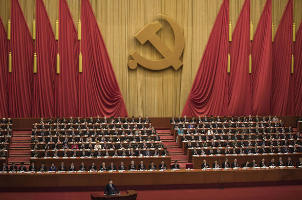 President Xi speaks before his Community Party Congress