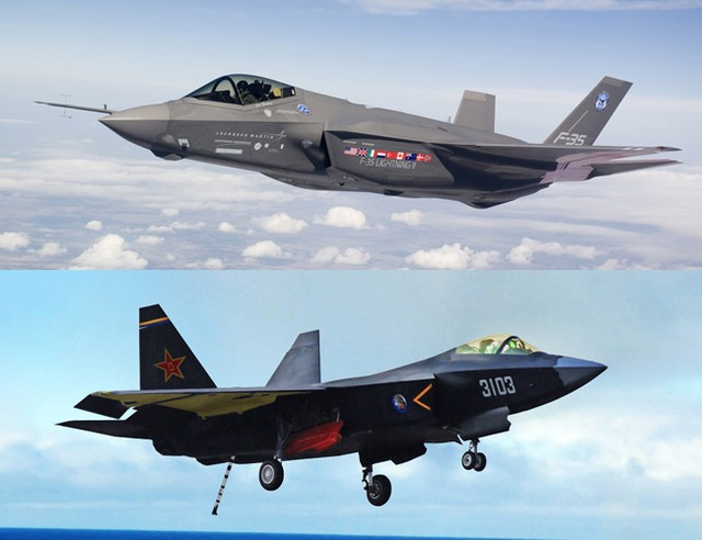 China duplicates the F-35 Joint Strike Fighter variant of the F-22 Raptor