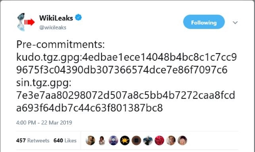 julian assange pre-committment to release sin files