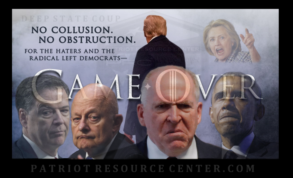 "It's ""Game Over"" for the Deep State coup as Barr releases the Mueller report."