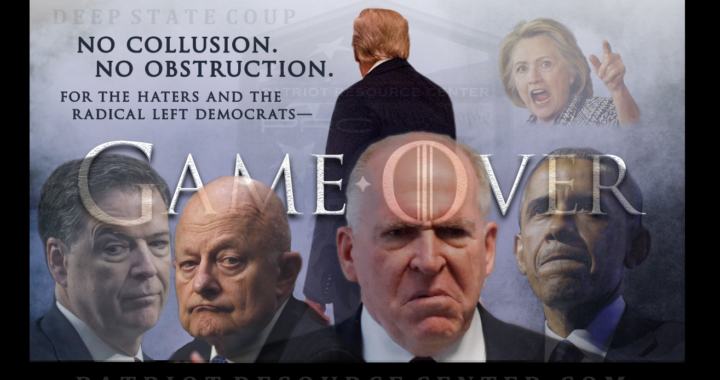 """It's """"Game Over"""" for the Deep State coup as Barr releases the Mueller report."""