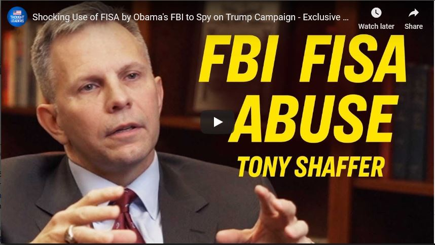 Lt. Col. Anthony Shaffer on the Greatest Scandal in American History- FISA abuse and the attempted Deep State Coup