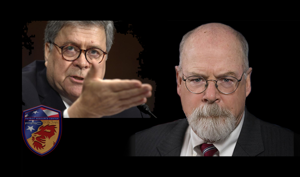 AG Barr Presents John Durham, U.S. Attorney in CT to lead investigation into the origins of SPYGATE